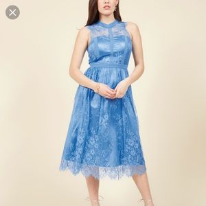 ModCloth Ethereal Enlivening Blue Lace Dress Small